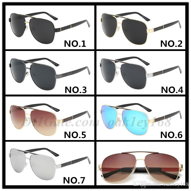 Men And Women Fashion Classic Designer Sunglasses Luxury 0808 Sunglasses Metal Pilot UV Protection Men Brand UV Protection Goggle