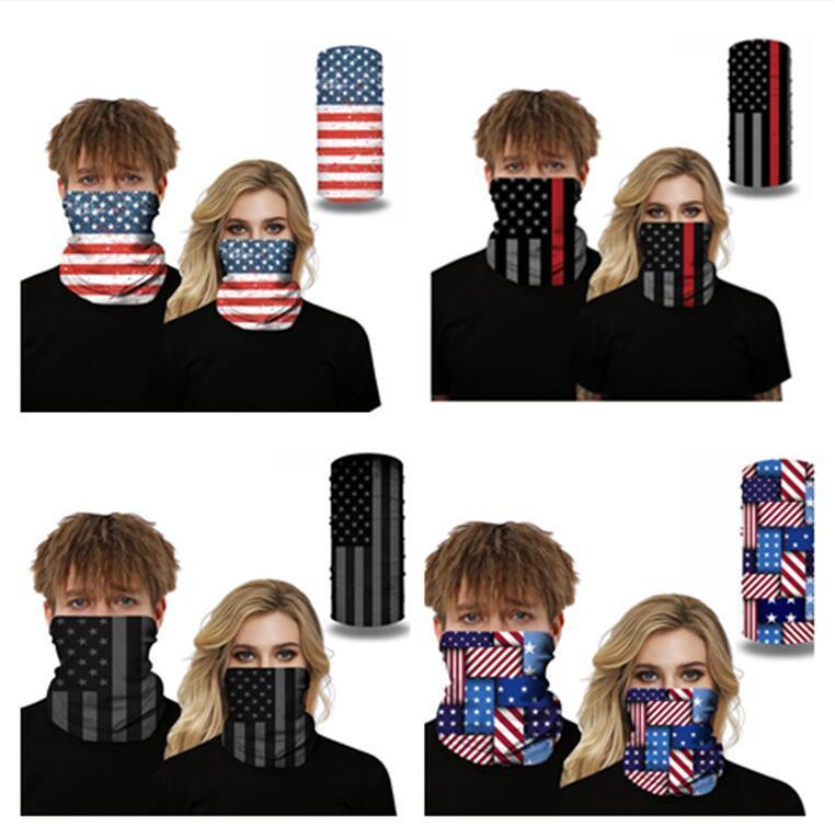 American Flag 3D seamless stampa Bandane Maschera multiuso fascia Sciarpa Headwrap del motociclo in bicicletta UV polvere Protezione Maks D52709