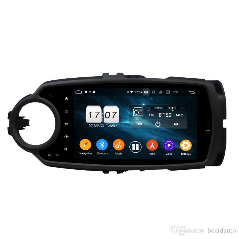 DSP 4GB + 64GB Android 9.0 Car Audio Car DVD Player لتويوتا ياريس 2012 2013 GPS Radio Bluetooth 4.2 WIFI Mirror-link USB DVR