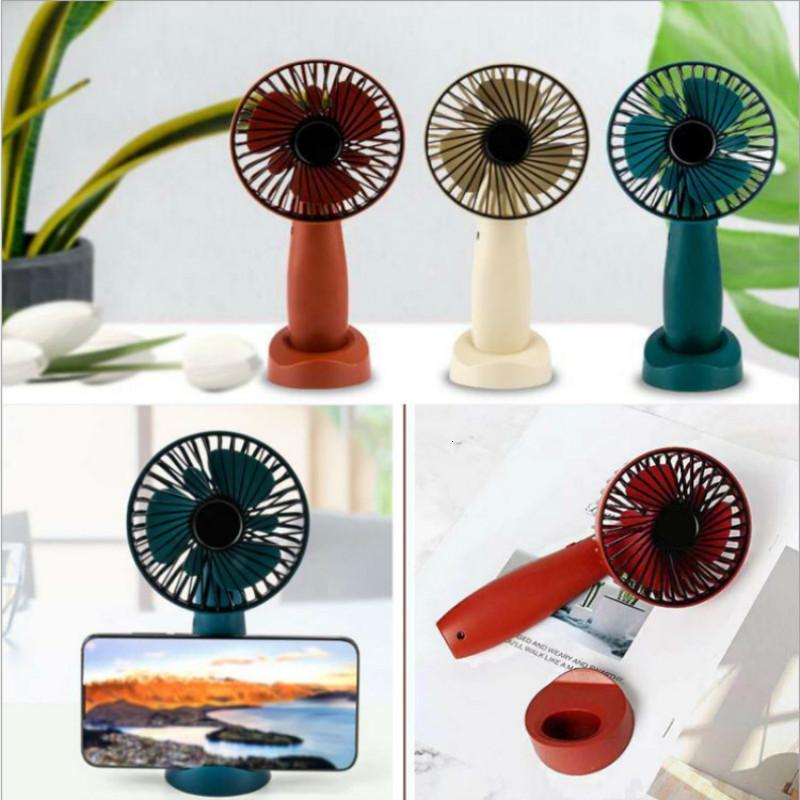 Ursprünglichkeit Handy-Halter Usb-Fans können Ladestudentenwohnheim Mini-Desktop-Fan mit einem Halten Kleine Fans