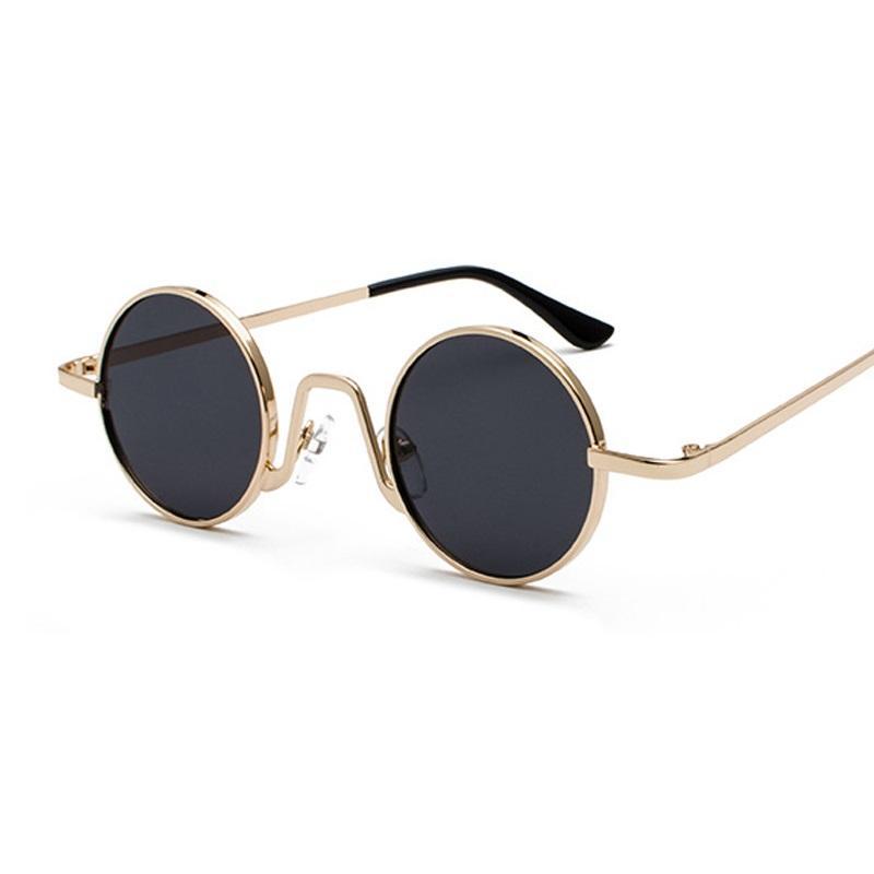 Mulheres Moda nova celebridade óculos de sol redondos clássico Sunglass Vintage Círculo Óculos