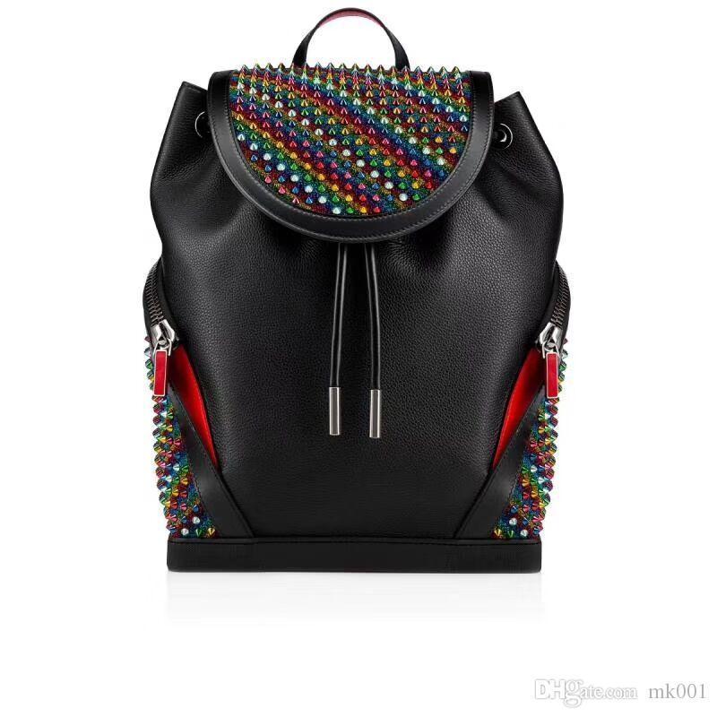 bolsas mochila amantes de la moda de lujo de alta calidad bolsa de amantes famosos cadenas manera clava clavos mujeres y hombres brandhandbag