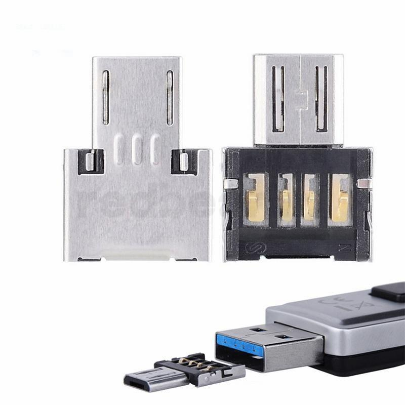 U 디스크 커넥터 USB 어댑터 2.0 미니 OTG 카드 리더 마이크로 OTG