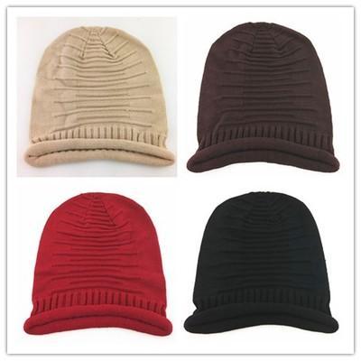 남성과 여성 니트 해골 모자 여성 겨울 모직 모자 소프트 비니 모자 아웃 도어 캐주얼 따뜻한 KnittedSki 캡 EEA557 배