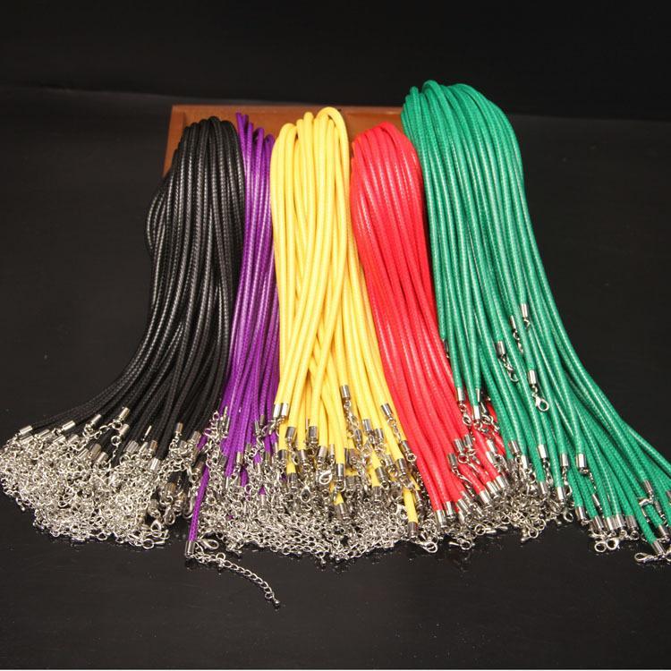 랍스터 걸쇠 DIY 패션 쥬얼리 구성 요소와 왁스 가죽 뱀 목걸이 직경 5mm의 길이 55CM 코드 문자열 로프 와이어 익스텐더 체인