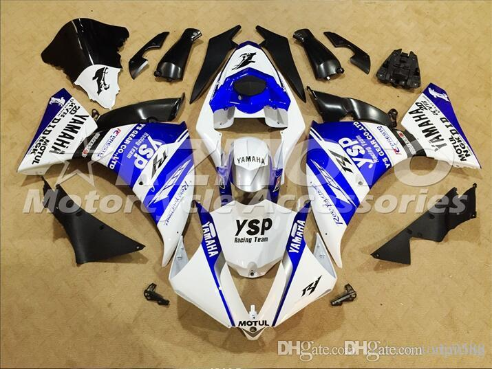 3 Free Gifts New ABS Injection High quality Fairing Kits 100% Fit For YAMAHA YZF1000 R1 YZF-R1 2012 2013 2014 12 13 14 Blue White Black B9