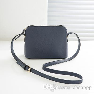 Markendesigner Weibliche Handtasche Schultertasche Shell Taschen Umhängetasche Mode Kleine Messenger Bag Handtaschen PU-Leder Farbe 9