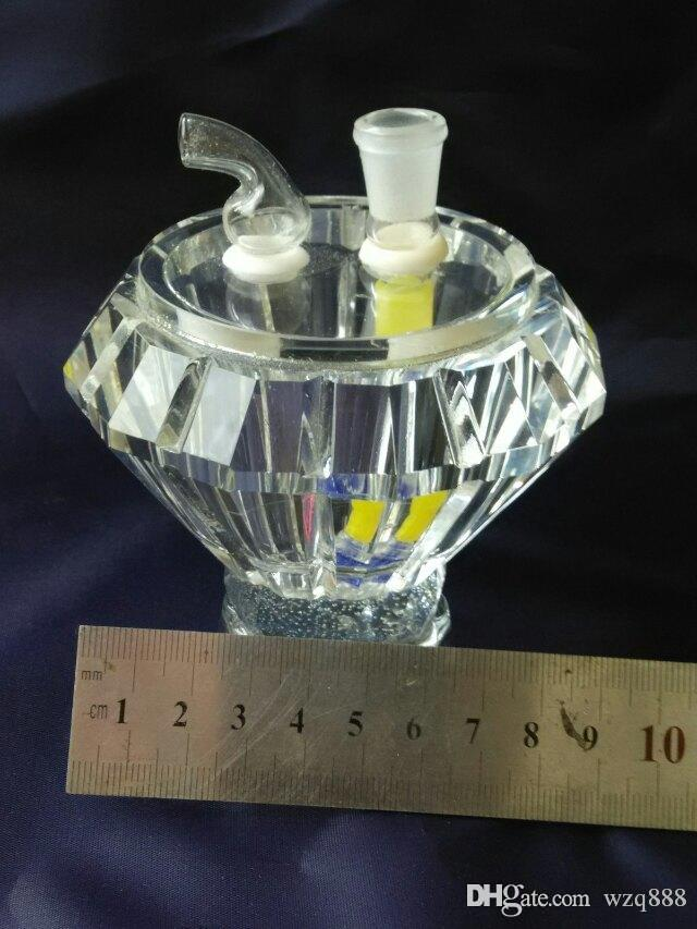 Diamond crystal hookah Wholesale Glass Hookah, Glass Water Pipe Fittings, Free Shipping