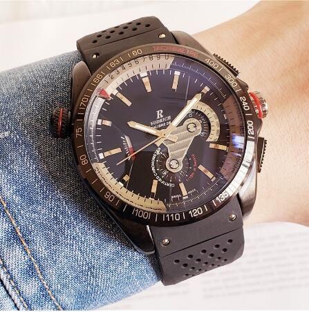 Homme Sport Watch avec bracelet en caoutchouc mécanique automatique Classic James James Bond Style Montre Couleur Cadeau A1 Montre