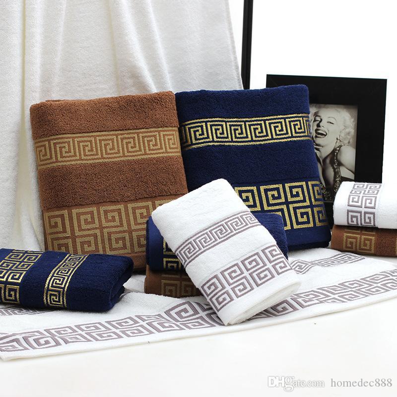 Cotton полотенец для лица Полотенца Wash Ткань Детские полотенца для рук Удобная Абсорбент Ванна Одеяло Вышивка Полотенце VT0271