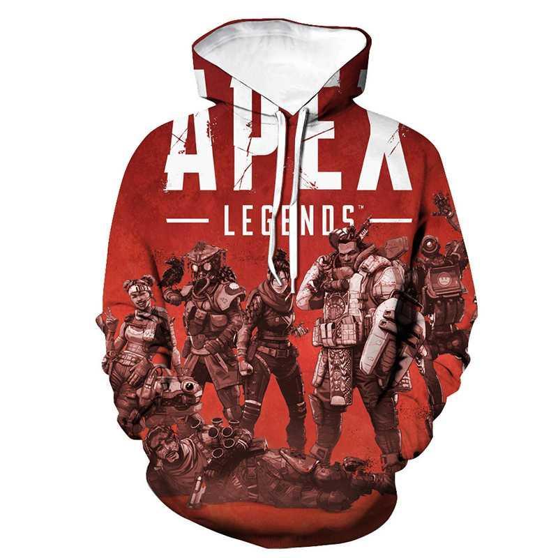Горячая игра толстовки Apex Legends 3D печати толстовка с капюшоном Мужчины Женщины Повседневная мода пуловер FPS толстовка хип-хоп топы пальто одежда