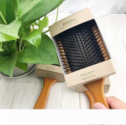 Top Quality legno naturale AVEDA spazzola della pala Brosse sportivo Massaggi Spazzola Smooth and Shine di spedizione della spazzola di capelli del DHL