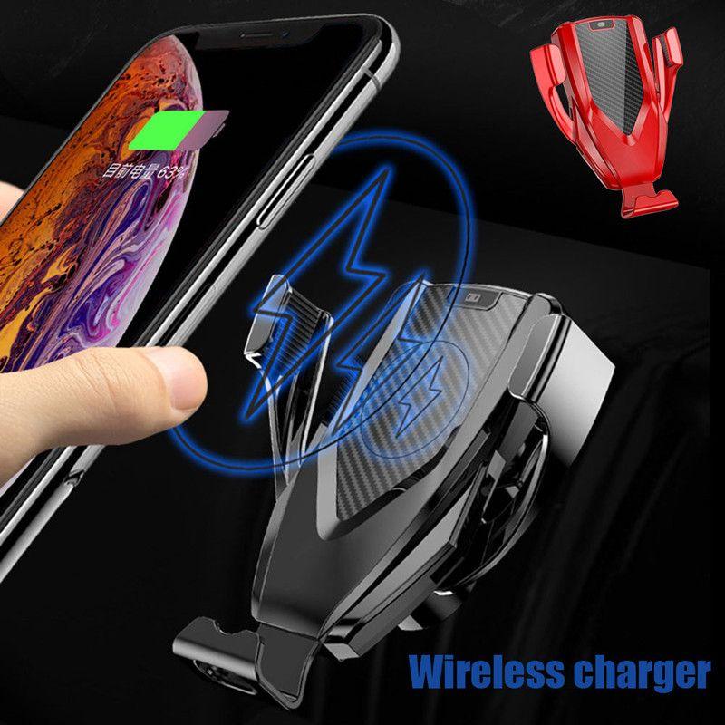 Chargeur de voiture sans fil M8 chargeurs de capteur automatique pour iPhone Xs Max Xr X Samsung S10 intelligent intelligent S10 S9 chargeant les détenteurs de téléphone de voiture