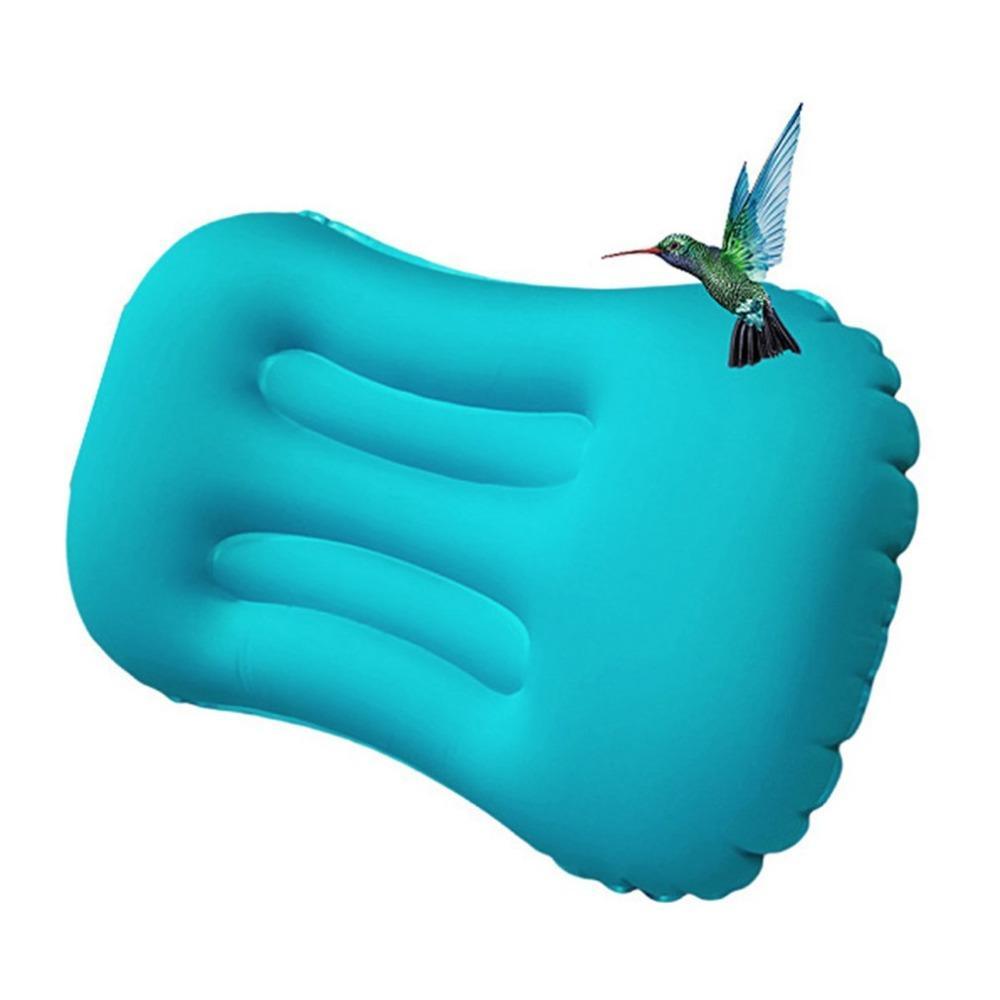 Ultraleve de ar portátil inflável travesseiro para caminhadas camping viagem