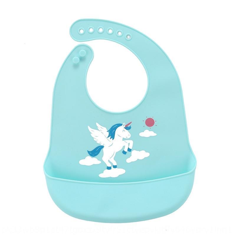 Bebek süper yumuşak önlüğü besleyen Silika jel silika jel önlük yapay silikon çocukların su geçirmez bebek yiyen beslenmesi