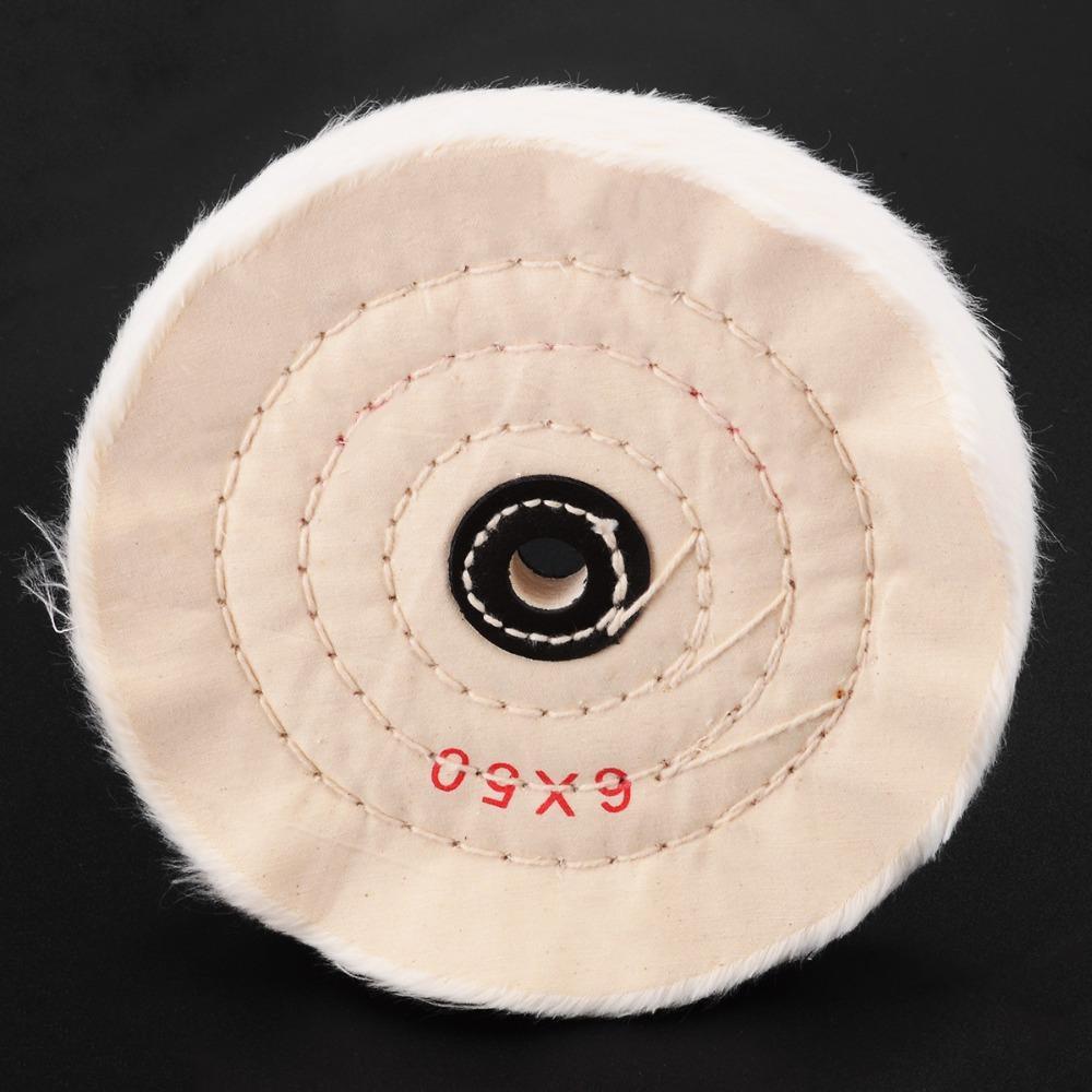 Roue de polissage de 6 pouces roue de polissage 1/2 pouce tampon de tampon polonais 50 jeu pour outils abrasifs en bois en métal