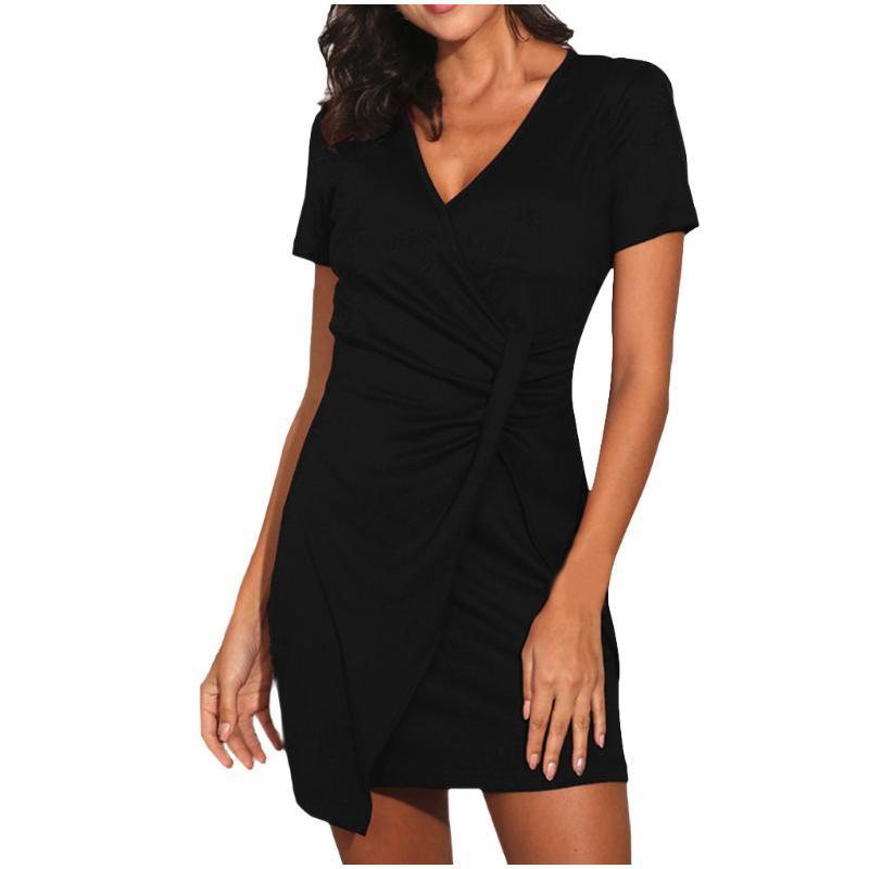 Couvertures Sagace Élégante Robe Élégante Femme Summer Street Sleeve Beach Couleur Solid Couleur Robes occasionnelles pour Vestidos