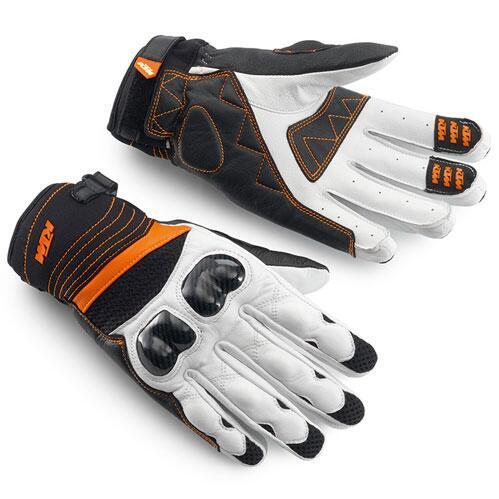 Nueva KTM-2 de la motocicleta guantes de cuero de fibra de carbono guantes de carreras de motocicleta que monta los guantes anti-caída transpirables