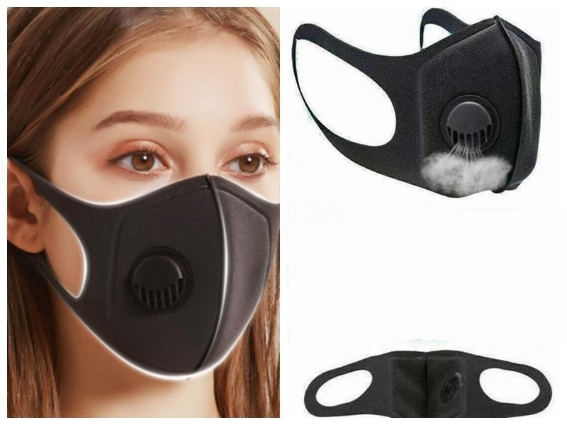 В наличии! Пыленепроницаемый маска для лица Дыхательные клапана Губка Маска моющийся многоразовый Anti-Dust Туман РМ2,5 Зимняя маска для лица Маски Boom