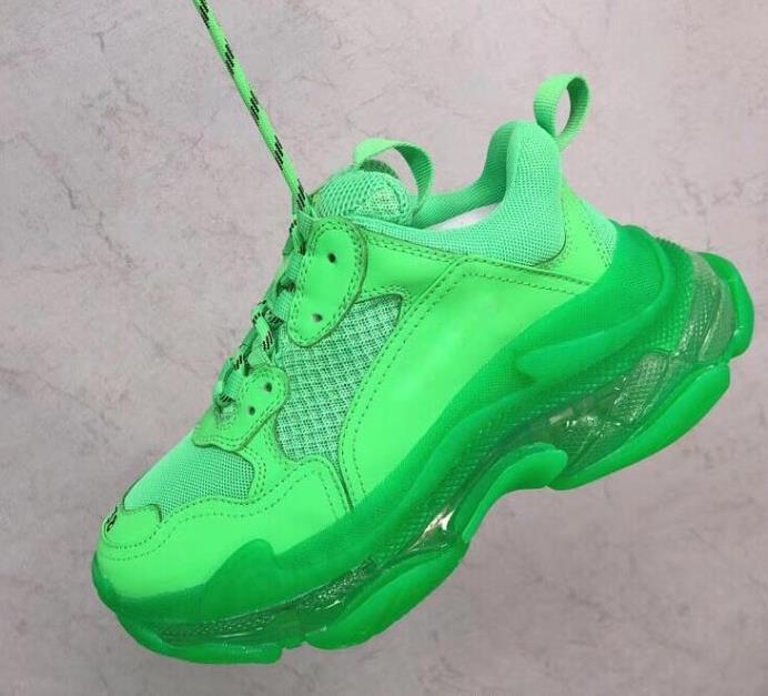 Paris 2020 Crystal Bottom Triple S Casual Shoes Platform Sneakers for Men Women Vintage Kanye Old Grandpa Trainer