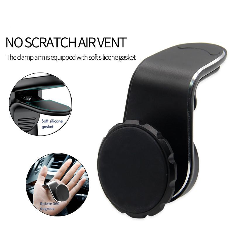 2020 newest universal aromatherapy diffuser car vent holder for smart phone car phone stand metal magnetic car vent stand