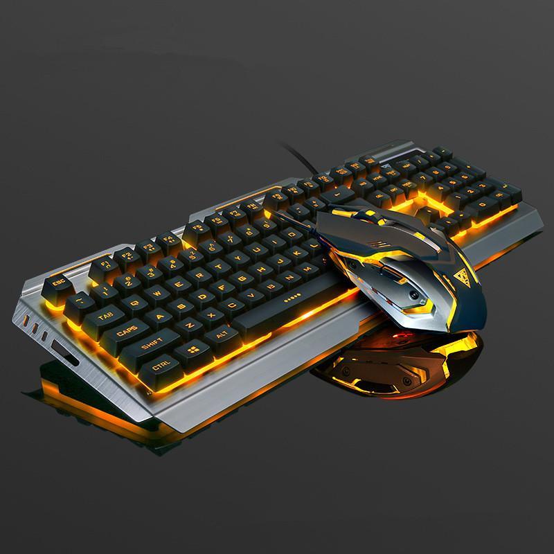 V1 Robotic Senteuse Souris Souris Mouse Set Cahier Bureau Câblé Keyboard Keyboard Keyboard Mouse Combos DHL Free