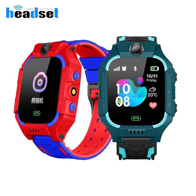 q19 Дети SmartWatch LBS часы SIM-карты вызова Tracker Детский телефон камеры SOS Anti-потерянный смарт-часы для детей