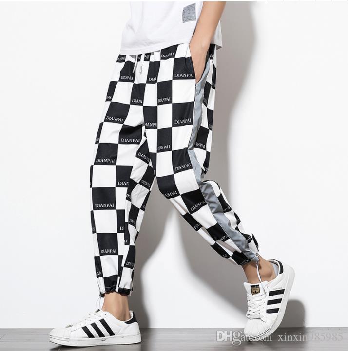 Hip Hop-Männer Designer-Hosen-beiläufige lose Sport-Hose für Mens Kordelzug Laufen Mode Herrenmode