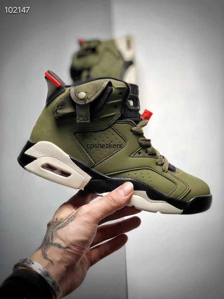 Niños barato Cactus Jack zapatos de baloncesto muchacha del muchacho de 6 6s pináculo Errores reflectantes conejito de deportes Tinker Hatfield azul Travis Scotts zapatilla de deporte
