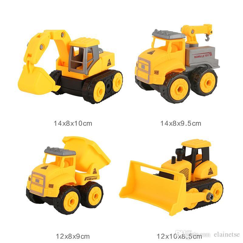 4 قطع الأطفال لعبة شاحنة سيارة لعبة هدية عيد البسيطة سيارات لعب
