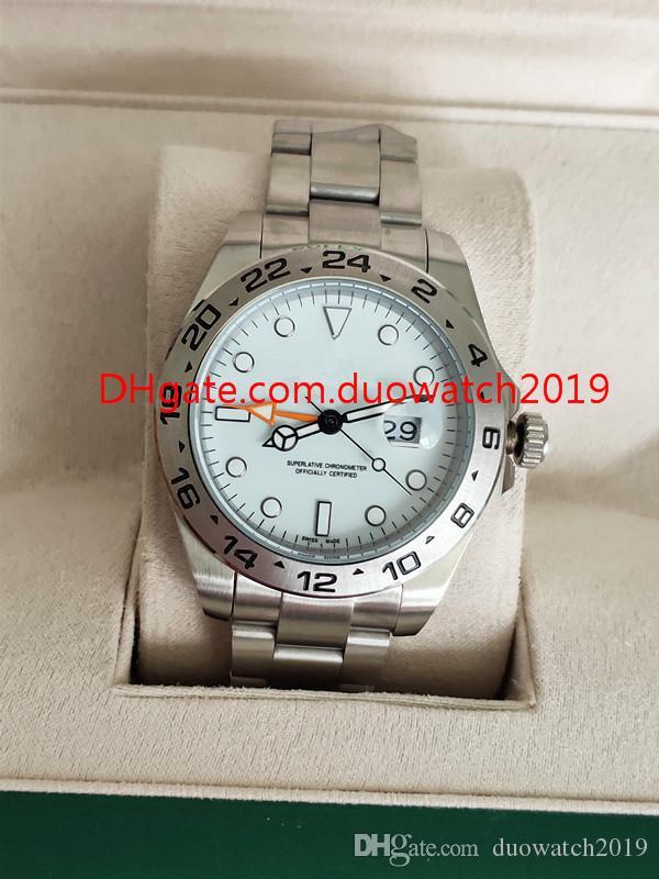 2 الألوان بيع الساعات ووتش asia_quality_watch 42MM إكسبلورر 216570 آسيا سوار 2813 حركة الميكانيكية الفولاذ المقاوم للصدأ رجالي التلقائية