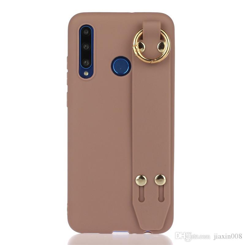 Esmerilado suave TPU para Y9 Prime 2019 / P / P 2019 inteligentes Inteligente Plus 2019 Muñequera Caso del soporte de cubiertas de los casos Huawei P Smart Z /