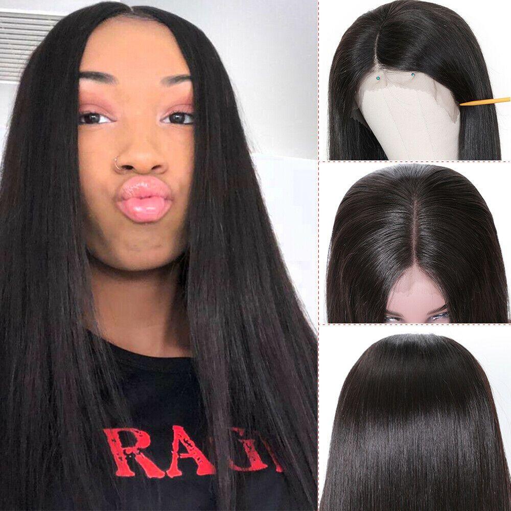 Completas do laço do cabelo humano Perucas 8A Hetero Cabelo Humano 13x4 peruca dianteira do laço