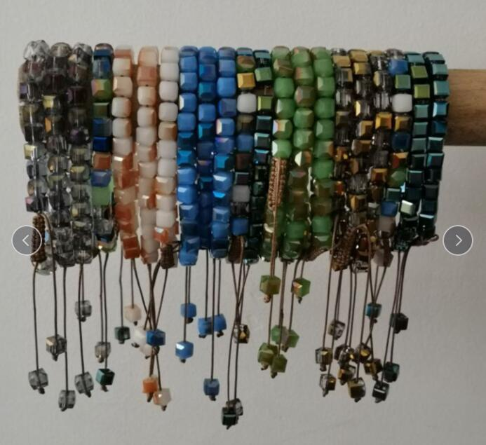 Regalos pulseras mujer de cristal Pulsera de cristal de la joyería hecha a mano del mitón de la baratija