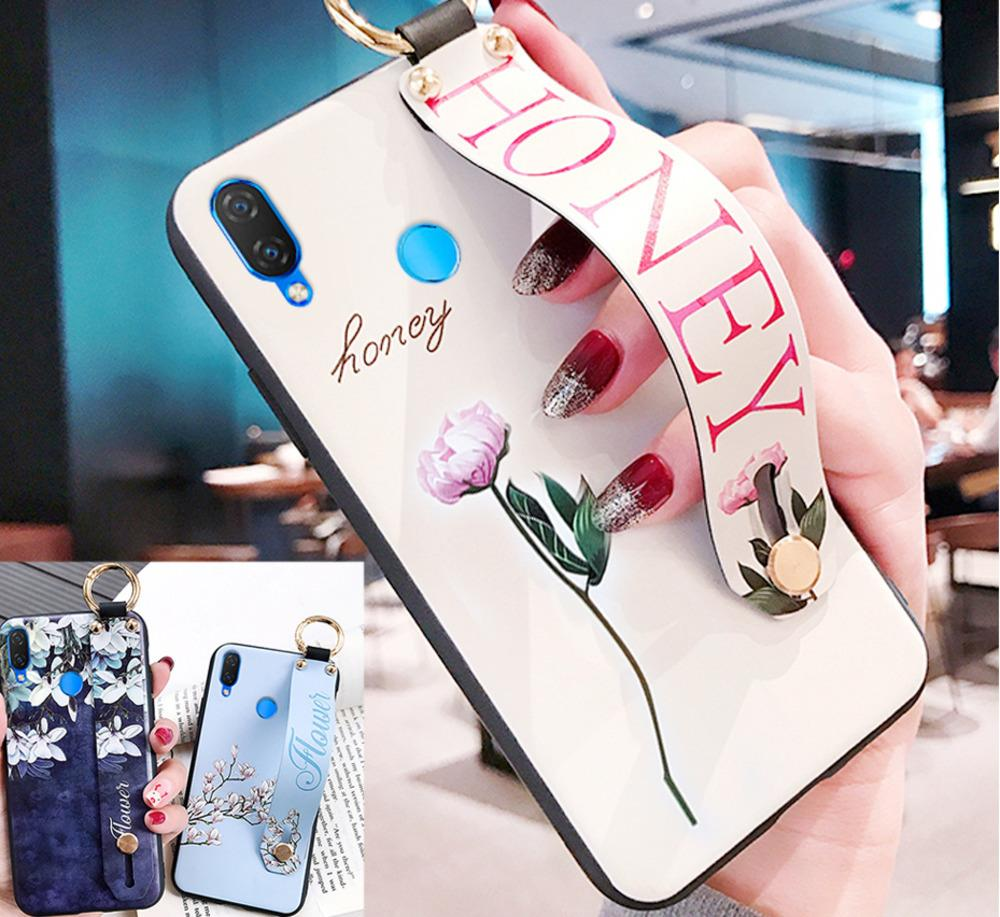 Sfor Honor 8x/honor 10/9 Lite /enjoy 8 Plus Fashion Flower Lanyard Stand Phone Case For Huawei Nova 3i Silicon Cover