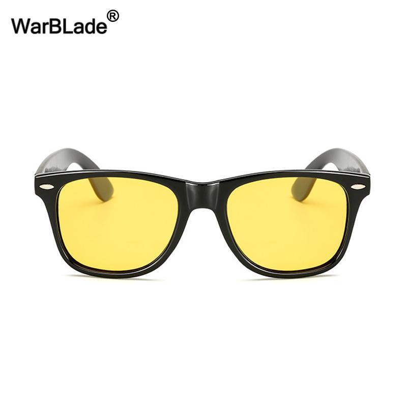 WarBLade 높은 품질 남성 선글라스 노란색 나이트 비전 태양 안경 여성 HD 편광 렌즈 야간 안전 운전 태양 안경