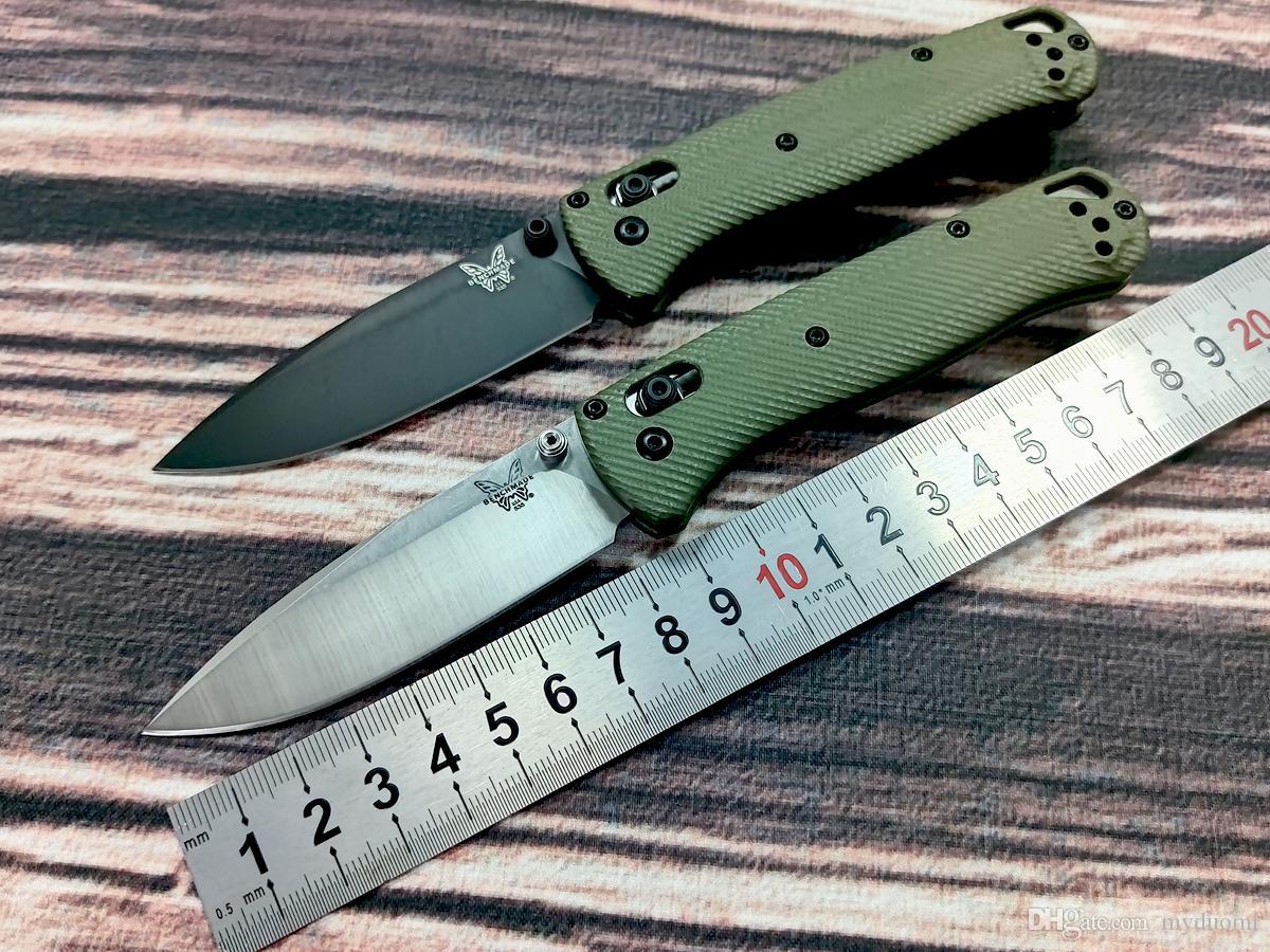 """Benchmade 535 Bugout sfera AXIS coltello pieghevole 3.24 """"maniglia tessitura S30V 3D verde G10 lavorato con un contorno confortevole per una maggiore aderenza"""