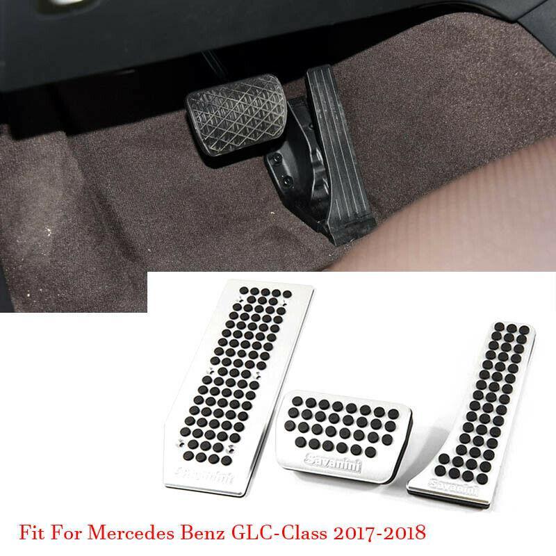 Автомобиль сплава акселератора газа тормозная подставка для ног педали плиты крышка накладка для Mercedes GLC300 2017-2018