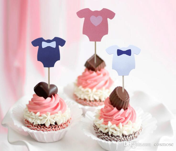 Dress Cupcake Toppers Girls Boys Cute Dress Baby Shower Dress Cake Toppers for Birthday Party Decoration