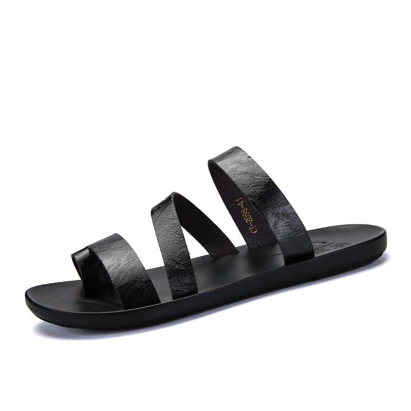 Romanas de goma zapatos de cuero Casa sandalle zandalias Deportivas sandalsslippers hombre cuero verano sandalias romanas de playa para cuir