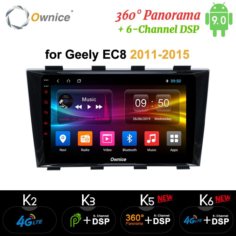 Ownice Android 9.0 k5 k6 for Geely Emgrand EC8 2011 - 2015 360 Panorama Car Tablet PC Player GPS Navi Radio DSP 4G LTE SPDIF car dvd