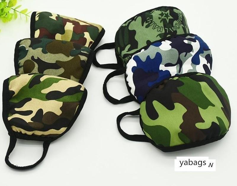 Máscaras lavable elástico Mascherine Boca Camo del diseñador 2 máscara de capa Earloop respirador para polvo Filtrition cara para la mujer del hombre LLFA