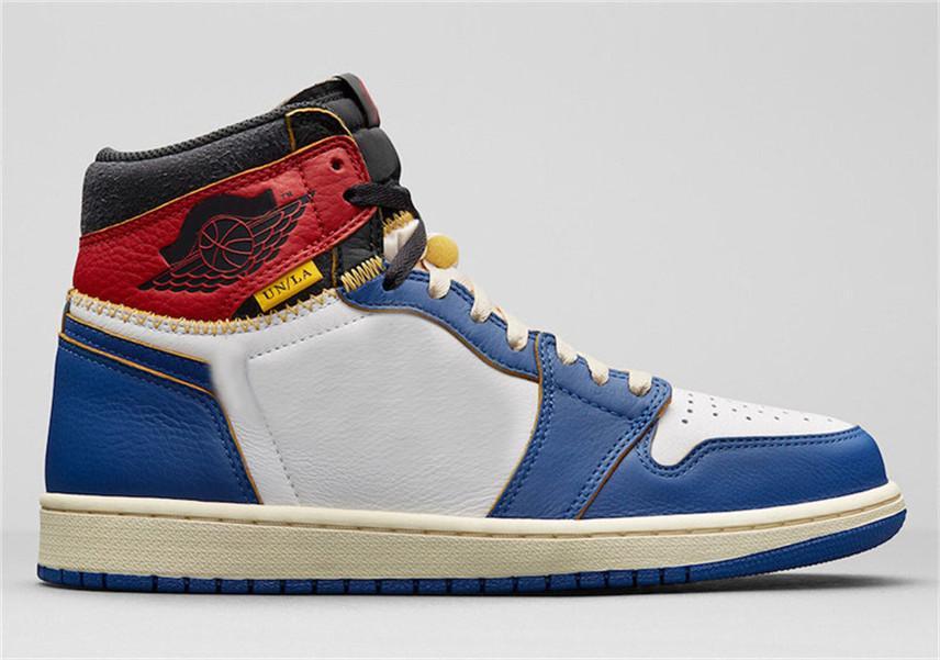 2020 Новые Союз X тапок 1 High OG Air NRG Аутентичные 1S Человек Баскетбол обувь Черный Белый натуральной кожи с О. Box BV1300-106 BV1300-146