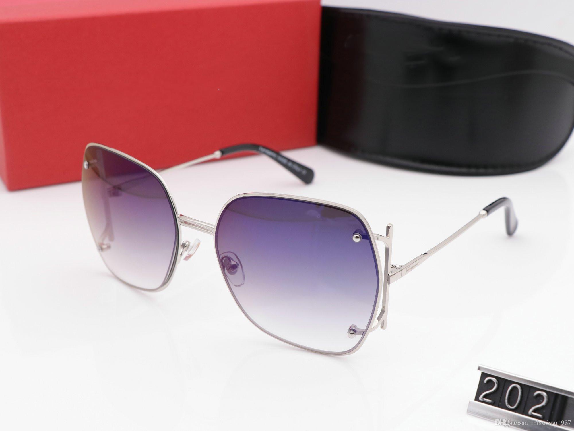 Box ile Kadın Gözlük Sürüş UV400 Adumbral ve Logo Yüksek kaliteli Yeni Sıcak için 2020 Tasarımcı Güneş Lüks Güneş Moda Markası