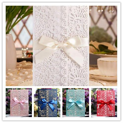 Elegant Laser Cut Wedding Party Invitation Card With Envelope Can Printingn Design Birthday Card Designs Birthday Card Free Online From Bowstring