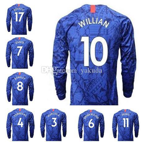 20-21 Long Sleeve 22 PULISIC 10 Hazard 3 MARCOS A.7 Kanté 10 Willian 12 LOFTUS-CHEEK 8 BAKlEY Thai Quality sports jerseys 11 Werner wear