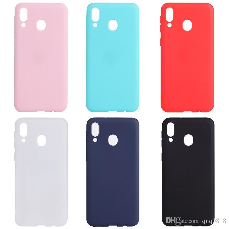 Custodie per telefoni cellulari di design per Samsung Mate 20 TPU tinta unita Cover posteriore Cover protettiva smerigliata