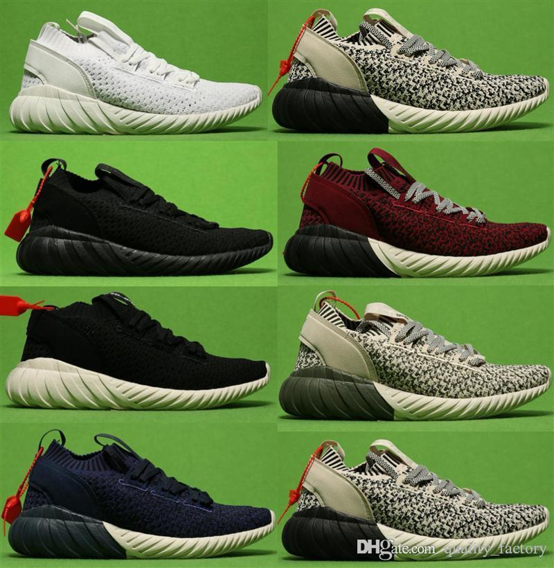 Kanye tubolare Doom calzino PK i pattini correnti delle donne degli uomini jogging taglio scarpe firmate a basso Womens Chaussures Sport Mens casuali Walking scarpe da tennis