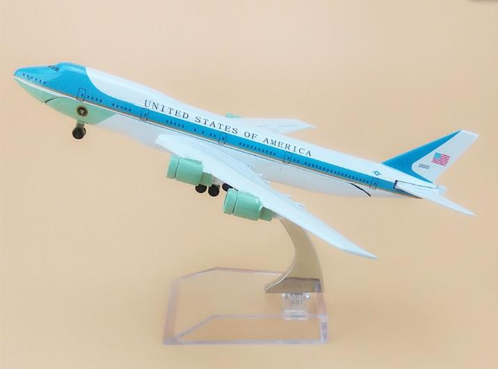 United States Air Force One B747 200 Airlines Plane Model 16cm