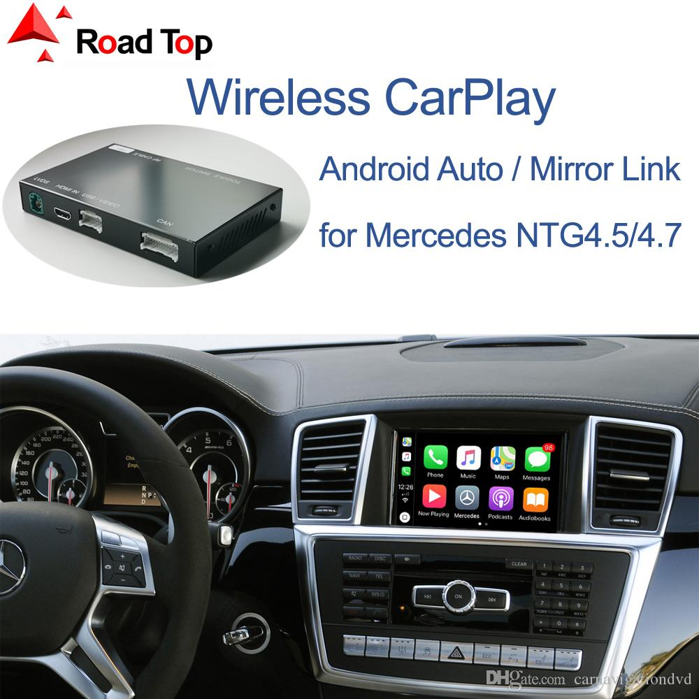 Android Auto Ayna Bağlantı AirPlay Araba Çal Fonksiyonlar ile Mercedes Benz ML GL W166 X166 2012-2015 için kablosuz CarPlay,